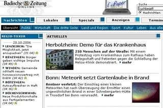 Nieuwsmelding vandaag in de Badische Zeitung Online