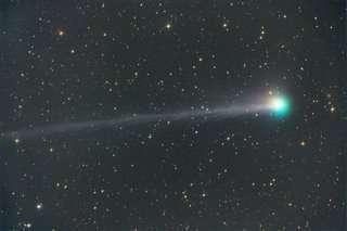 Komeet SWAN, gefotografeerd door Michael Jager en Gerald Rhemann