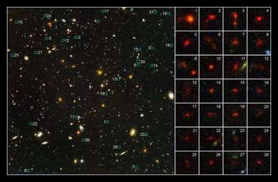 28 jonge sterrenstelsels