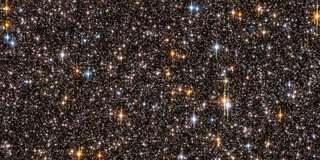 Foto van Hubble uit de SWEEP-inventarisatie met daarop 9 sterren waar planeten zijn ge?dentificeerd