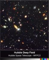 De Hubble Deep Field: van ons af bewegende sterrenstelsels
