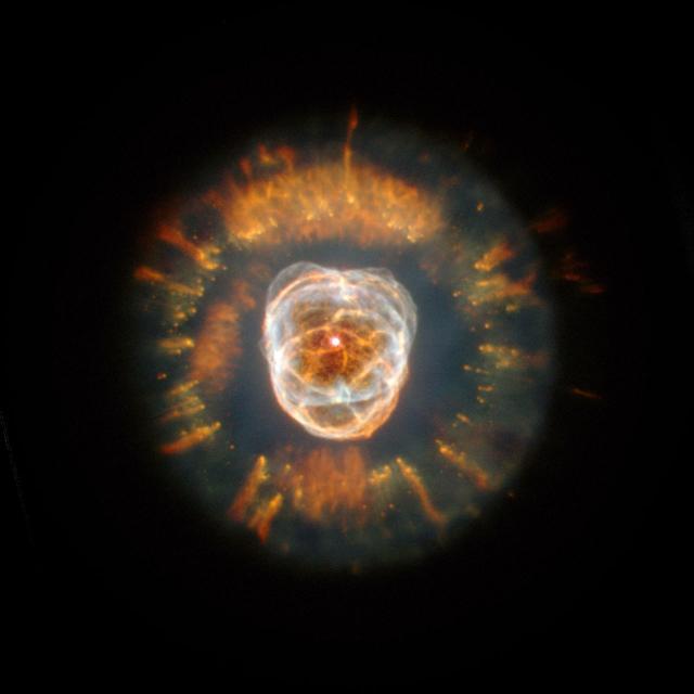 ... het einde van de centrale ster in het zonnestelsel het object waar het