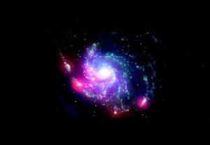 M101 met actieve stervorming in de buitenste regionen