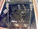 De uitgebrandde Apollo 1 cabine