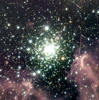 NGC 3603, voorbeeld van een cluster