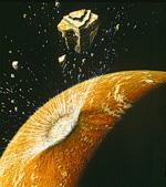 Komt Mars eind januari in botsing met de planetoïde 2007 WD5?