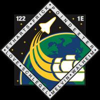 Het vluchtembleem van STS-122, die door de Atlantis zal worden uitgevoerd