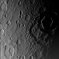 Close-up van Mercurius met de krater Vivaldi