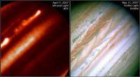 De stormen op Jupiter van maart 2007