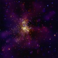 De door Chandra in beeld gebrachte stercluster Westerlund 2
