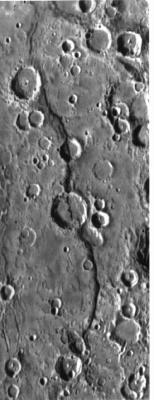 De Discovery Rupes op Mercurius.