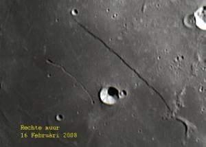 Rupes Recta, oftewel de rechte Muur op de Maan