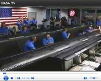 De landing live op NASA-tv