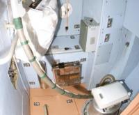 Het toilet aan boord van de ISS