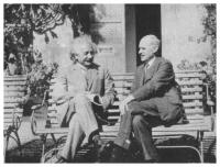 Albert Einstein en Arthur Eddington