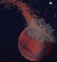 Is Mars geraakt door een mega-impact?