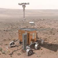 Schets van de landingsmodule van de ExoMars