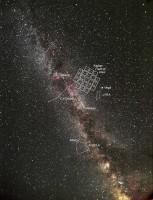 De Zomerdriehoek met het gebied dat Kepler gaat bestuderen