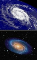 Orkanen en spiraalstelsels lijken erg veel op elkaar