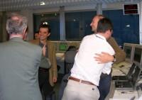 Vreugde in het vluchtleidingscentrum