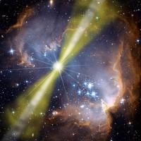 gammaflitser GRB 080319B heef twee bundels