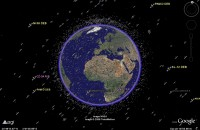 Satellieten in Google Earth
