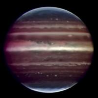 Infraroodopname van Jupiter