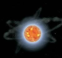 Impressie van een magnetar