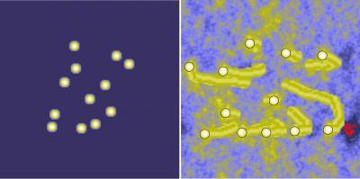 Computersimulatie van bewegende Marsstenen