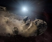Afgebrokkelde planetoiden bij witte dwergen
