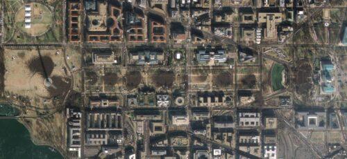 Capitol Hill vanuit de ruimte