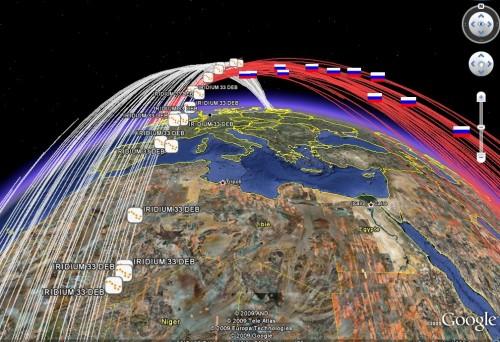 Satellietafval met Google Earth
