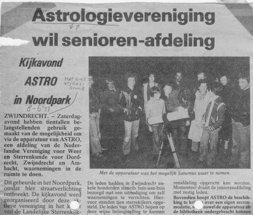 De astrologievereniging, tssssss