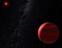 Animatie van een exoplaneet