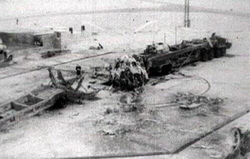 Restanten van de R-16 ná de ramp