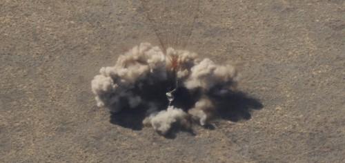 De Soyuz landt