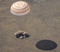 Boem, de Soyuz is geland