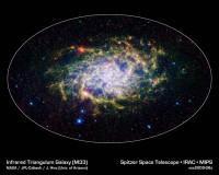Spitzer brengt M33 weer in beeld