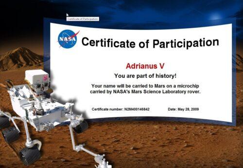 Adrianus V gaat naar Mars!