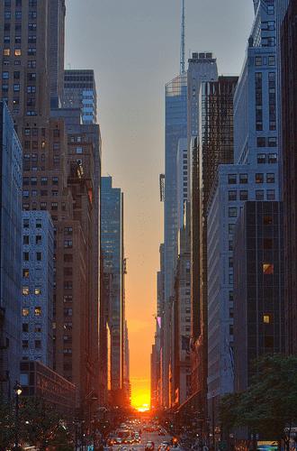 De zon in NYC