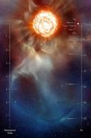 De gigantische pluim bij Betelgeuze