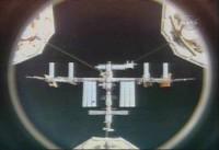 Het ISS nét voor de koppeling