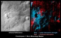 Water en hydroxyl op de maan