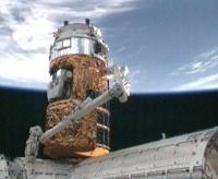 De HTV-1 bij het ISS