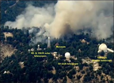 De brand op/bij Mount Wilson