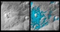 Gebieden op de Maan waar water voorkomt