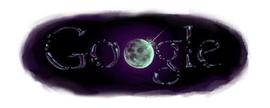 Google's logo: water op de maan