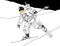 Skiën op de Maan