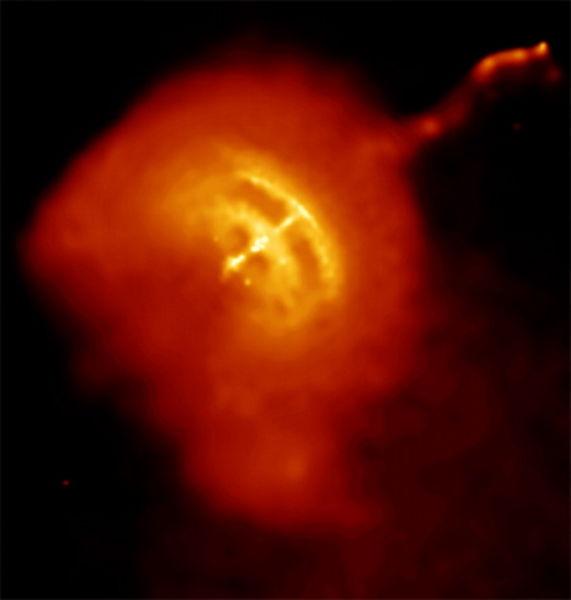 Voorbeeld van een pulsar, de Velapulsar
