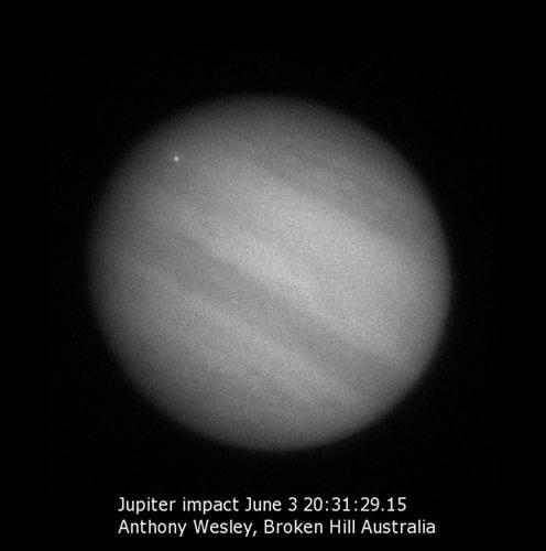 De inslag op Jupiter